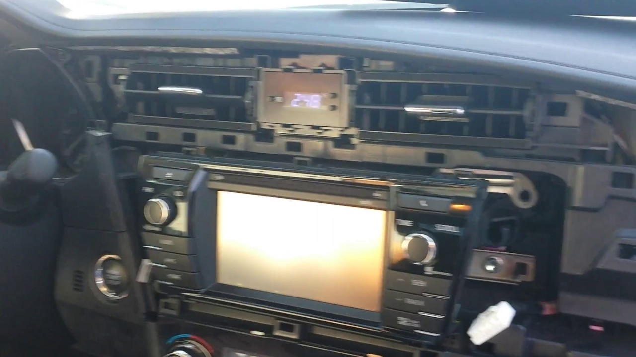 How to Remove Radio / Navigation / Touch Panel from Toyota Corolla 2014 for  Repair