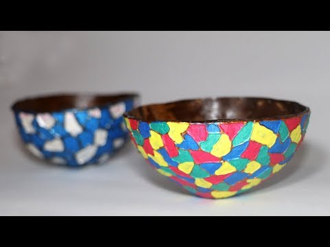 DIY Coconut Bowl | Best out of Waste Crafts | Little Crafties