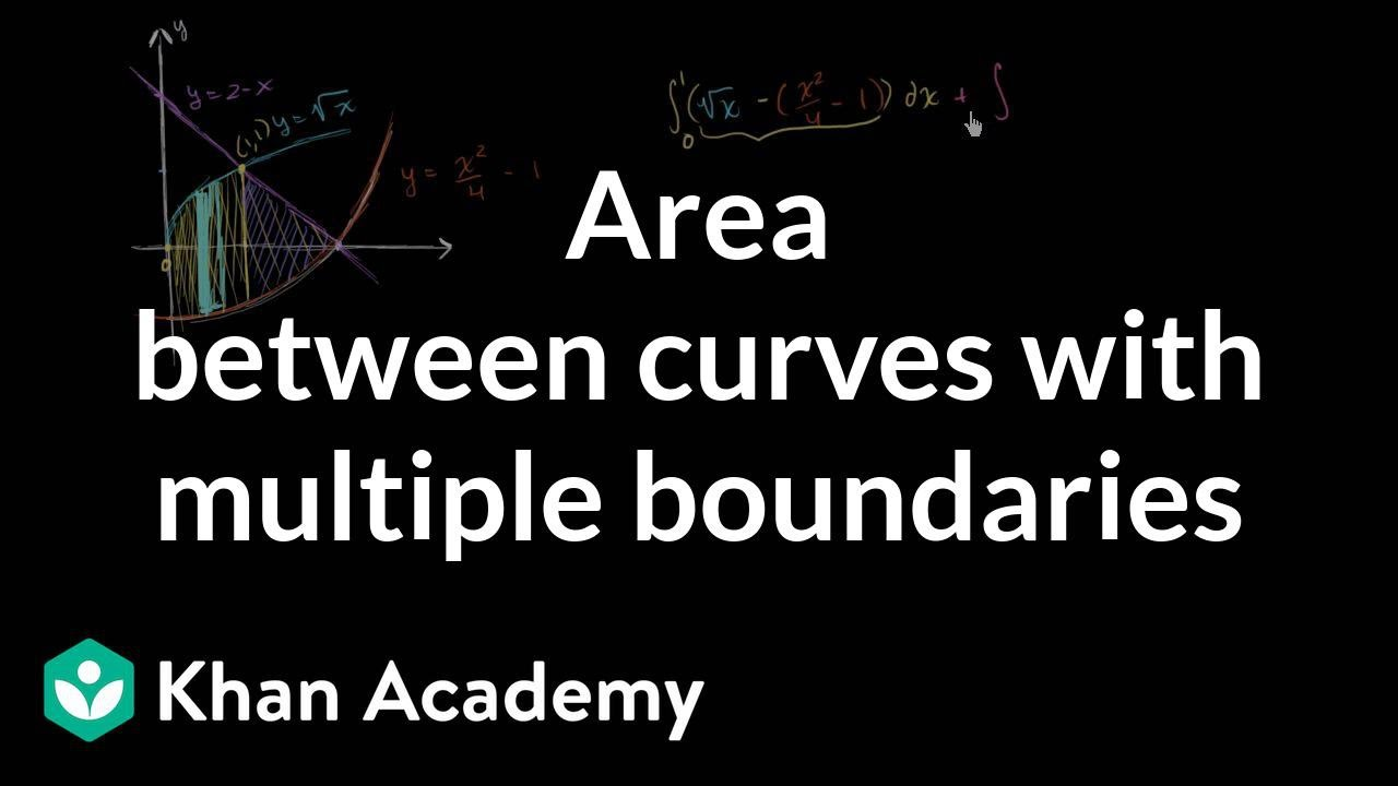 Composite area between curves (video) | Khan Academy