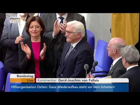 Vereidigung und Rede des neuen Bundespräsidenten Frank-Walter Steinmeier am 22.03.2017