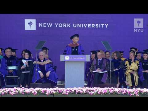 NYU Commencement 2017--Pharrell WIlliams Remarks