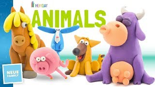 Make cute Animals with Hey Clay - Makers of Talking ABC