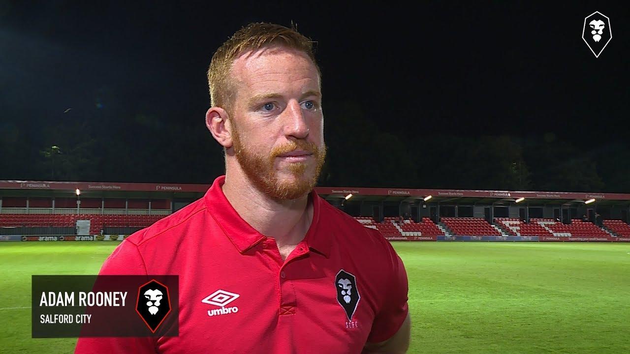 9811c725 Salford City 2-1 Halifax Town - Adam Rooney post match interview ...