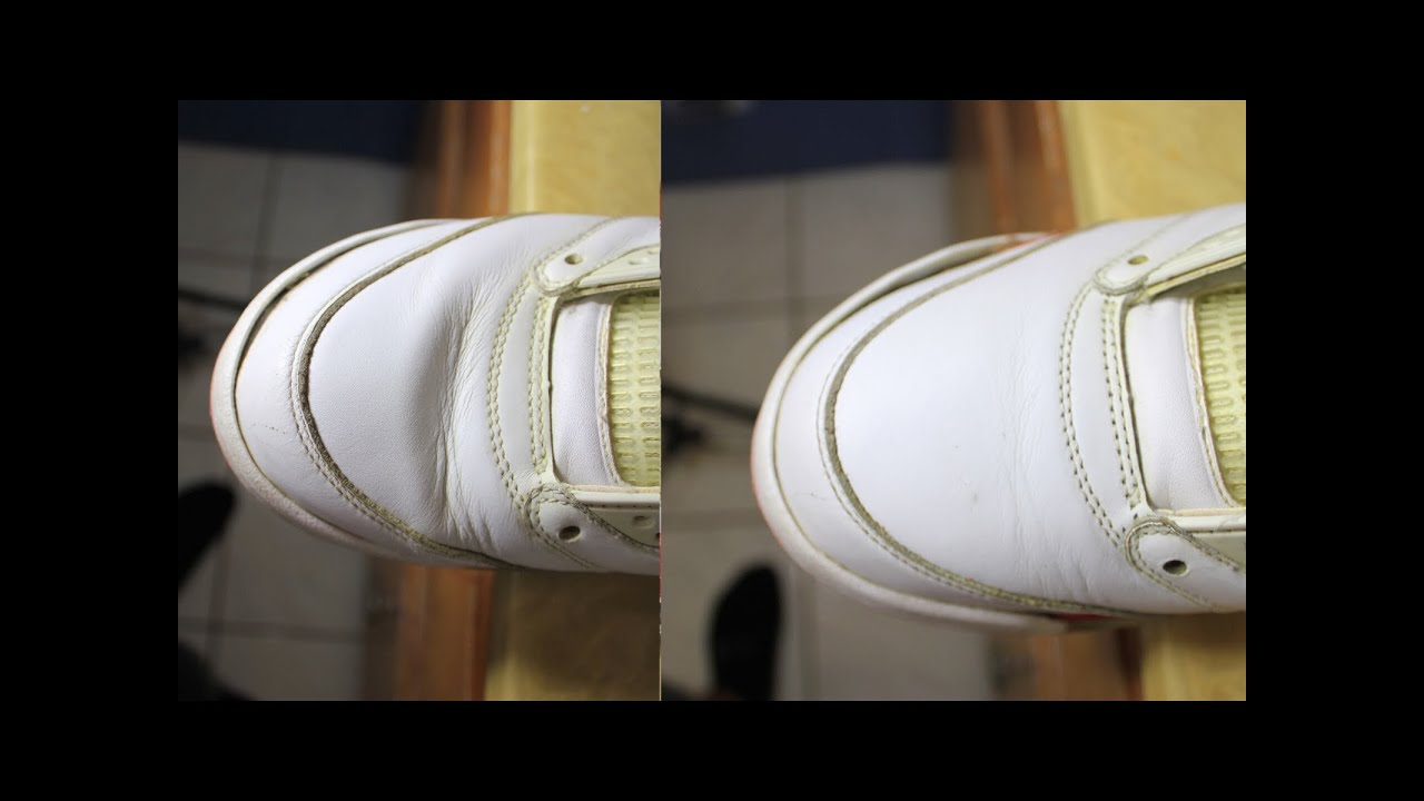 1655af62070 How to remove creases on jordans nikes ETC - YouTube