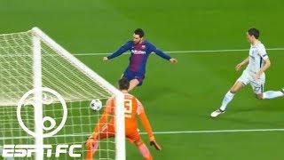 Lionel Messi scores through Thibaut Courtois' legs twice in Barcelona's 3-0 win vs Chelsea | ESPN FC