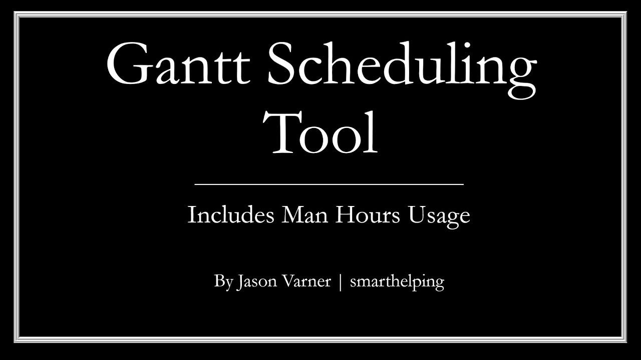Google Sheets Gantt Chart Youtube