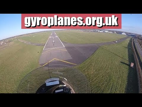 flight to oxford airport in a gyrocopter/gyroplane