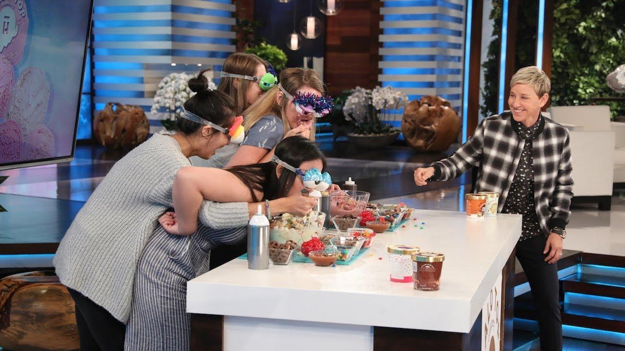 Ellen's New Game 'I Scream, You Scream, I Can't See My Ice Cream'