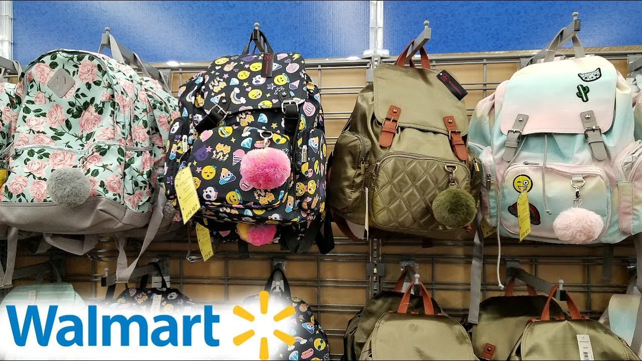 WALMART BACK TO SCHOOL BACKPACKS LUNCH KITS WALK THROUGH 2018