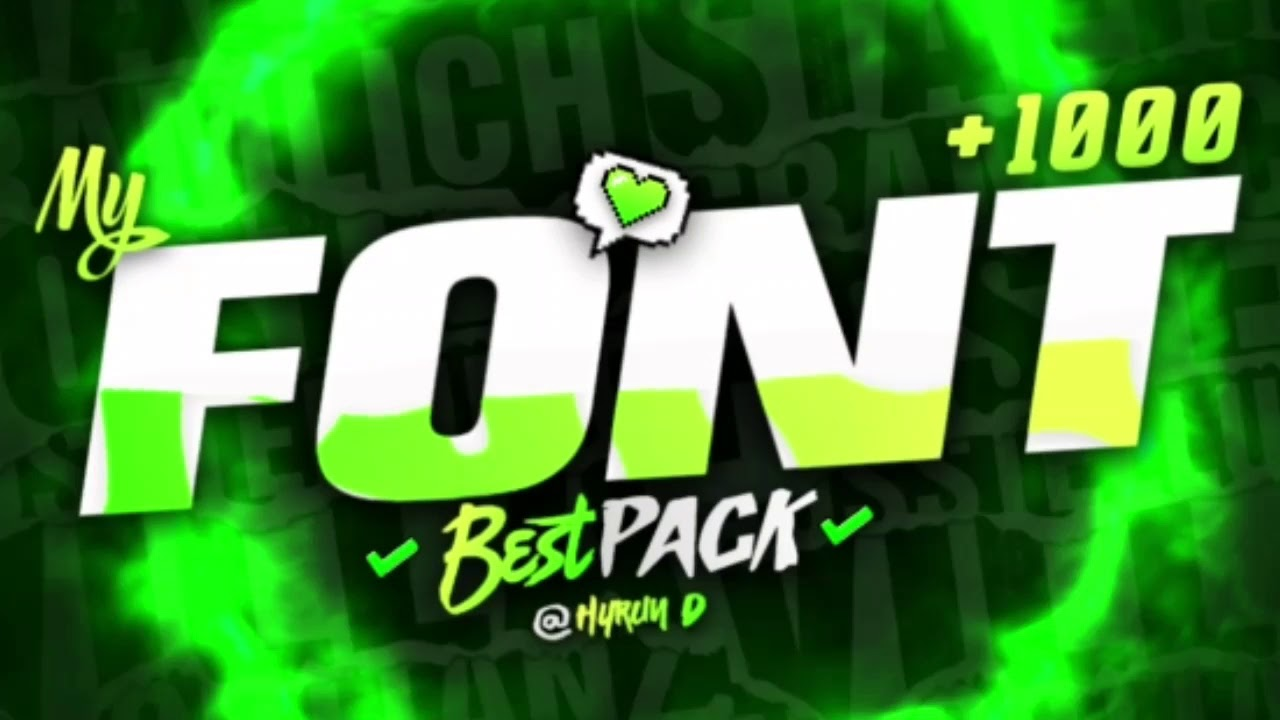 Download FREE FONT PACK +1000   Best fonts for Gfx Designs - Pc ...