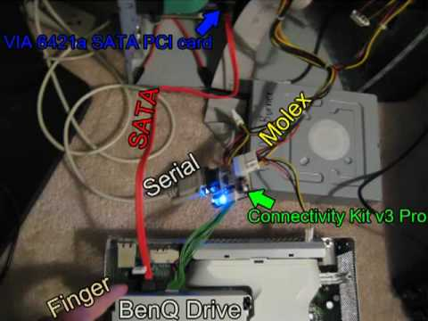 How to Flash the Benq VAD6038 Xbox 360 DVD drive « Xbox 360