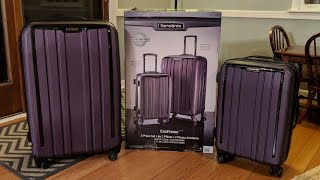 """Costco Samsonite ExoFrame Spinner Luggage 20"""" & 28"""" Set Unboxing and Review"""