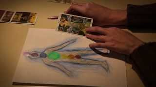Chakra Healing with Tarot cards - Drawing, Soft Spoken Card Reading ASMR
