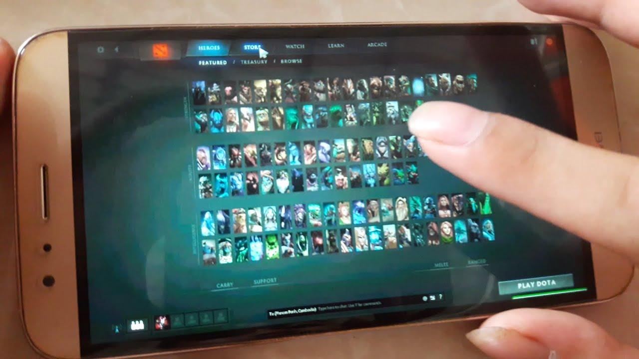 play dota 2 on smart phone wow youtube