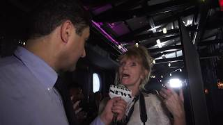 Sandy Foley from Fashion Haunts Magazine coverage of Dolores Catania lunch party