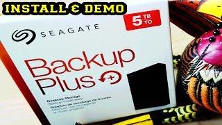 Seagate Backup Plus+ 5 TB Storage Install & Demo Ruby Rock YouTube #15
