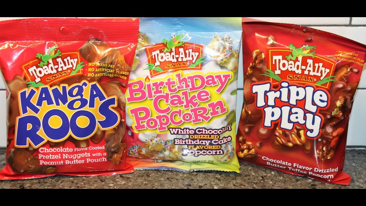 Toad Ally Snax Kanga Roos Birthday Cake Popcorn Triple Play Review