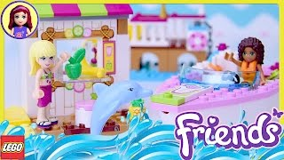 LEGO Juniors Andrea & Stephanie's Beach Holiday Review Build Silly Play Kids Toys