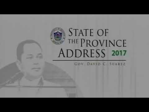 Quezon SOPA 2017 By Gov  David C  Suarez