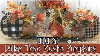 DIY Dollar Tree Rustic Pumpkins Fall Decor | Pumpkin Patch DIY | Farmhouse Fall Decor