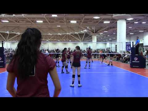 Gaby Silva#9 at GJNC 2017 Open Division RedRock vs KC Powers (playing libero) 2nd set