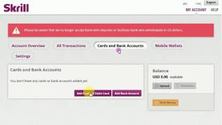 How to add a Card / bank account and card verify your Skrill account 2018  Lesson 2 SINHALA
