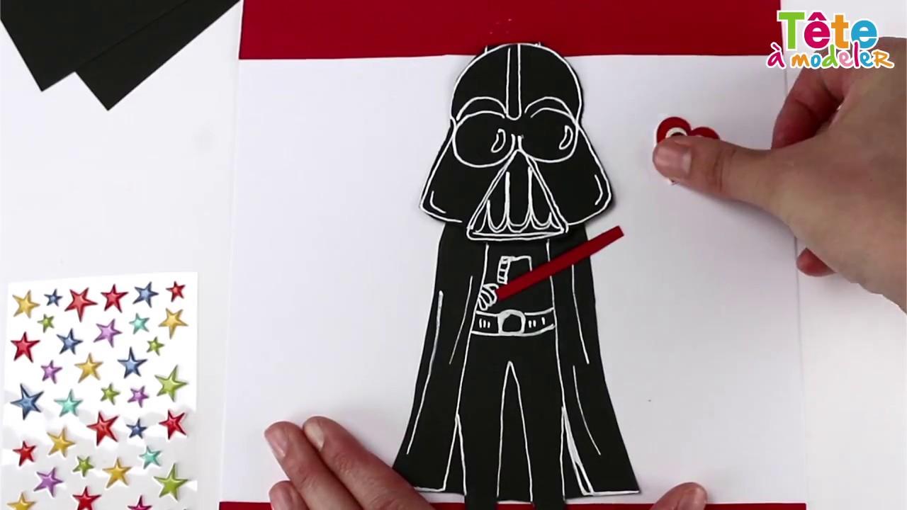 TUTO] La carte de fête des pères Star Wars - Une vidéo by Tête à modeler - YouTube