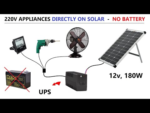 POSSIBLE ? Run 220V AC Appliances with 12v 180W Solar Panel without Battery