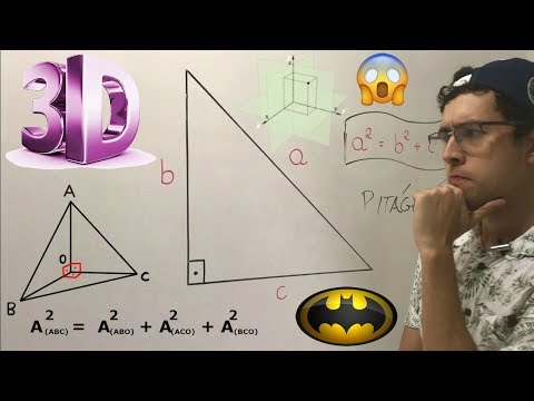 EXISTE TEOREMA DE PITÁGORAS 3D ?? COMO É POSSÍVEL ?! (Teorema de De Gua)