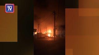 Tiga buah kedai hangus terbakar di Ketereh