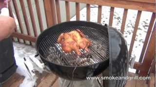 Spatchcock Chicken On A Weber Kettle Charcoal Grill