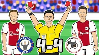 🔴2 SENT OFF! 4-4!🔴 Chelsea vs Ajax (Champions League 2019 Parody Goals Highlights)