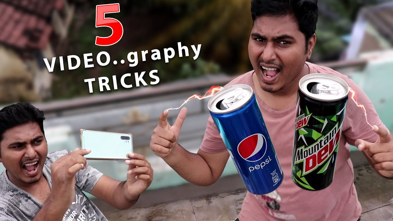5 வேற லெவல் TRICKS | 5 New videography tricks for mobile | Top 10 Tamil