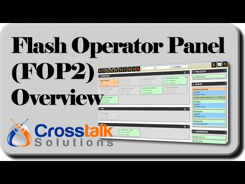 Flash Operator Panel 2 (FOP2) Overview