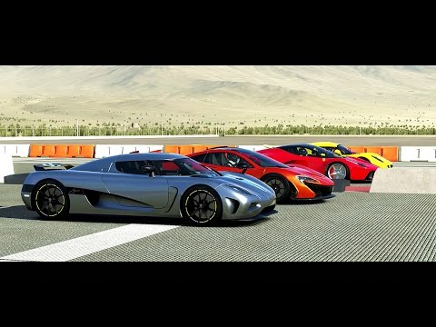 Forza 5 Drag Race: Koenigsegg AGERA vs. Ferarri LaFerrari vs. McLaren P1 vs. Hennessey Venom GT
