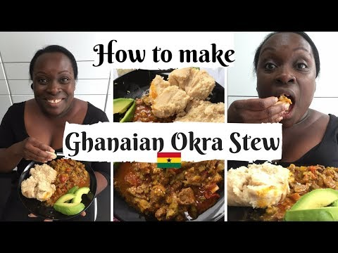 How to make Okra stew (Nkruma Froye) with beef and egg plant🍆 best okra stew