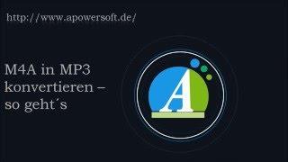 M4A in MP3 konvertieren – so geht´s