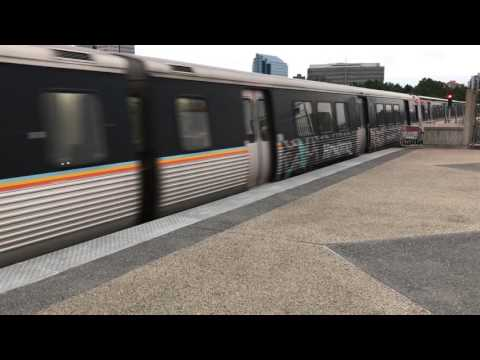 Southbound Redline MARTA Train Approaching Dunwoody Station in Dunwoody Ga.