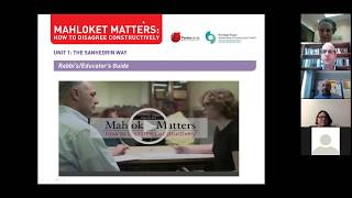 Mahloket Matters: How to Disagree Constructively: Training webinar for rabbis and adult educators