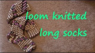 Loom Knitted Long Sock (Boot Sock, Knee High, Over Knee)