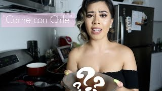 I TRIED FOLLOWING A MOE MONEY RECIPE//CARNE CON CHILE