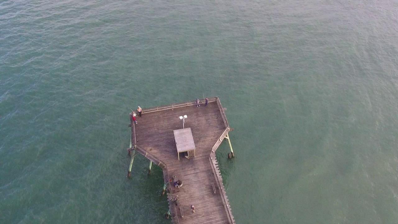 Fishing pier kure beach nc via dji p3s youtube for Kure beach fishing report