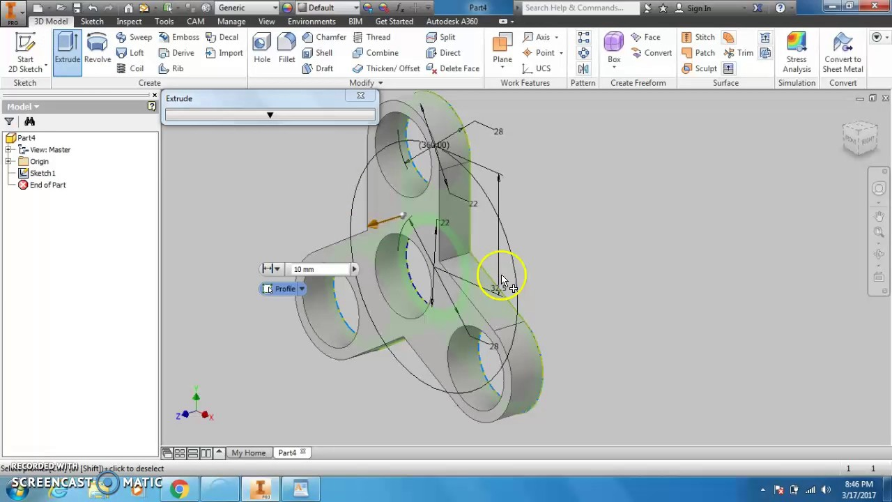 How to draw Fidget Spinner on Inventor