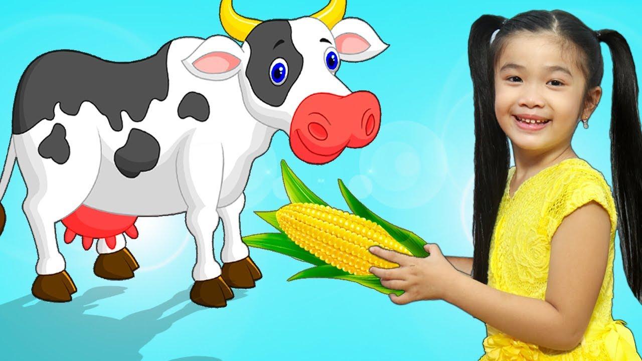 Hana Pretend Play Feeding Animals w/ Kitchen Cooking Food Kids Toys ...