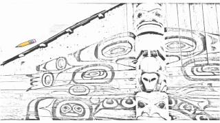 Auto Draw 2: Chilkat Tribal House, Haines, Alaska