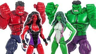 Hulk and Red Hulk! Defeat the Thanos with She-Hulk and Red She-Hulk! #DuDuPopTOY