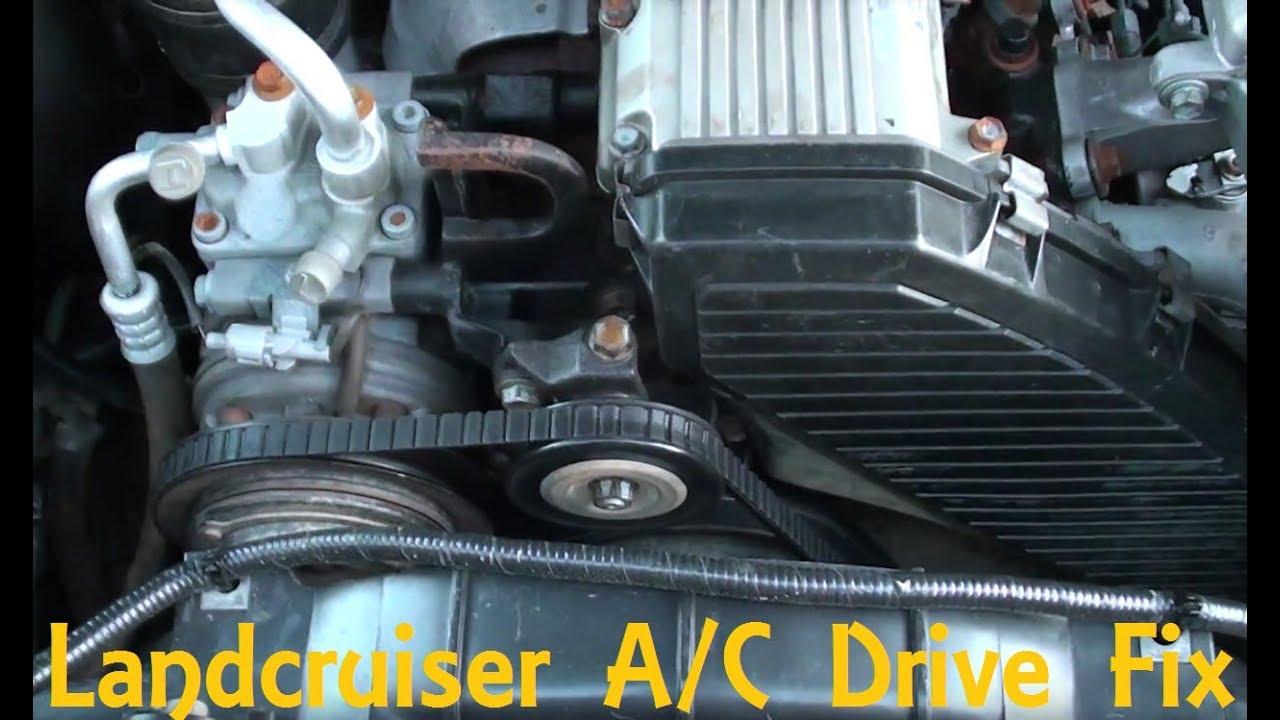 Landcruiser A/C Belt drive issue/fix (Throwing A/C belt)