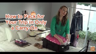 Packing Tips for Your Trip Using Only a Carry-on