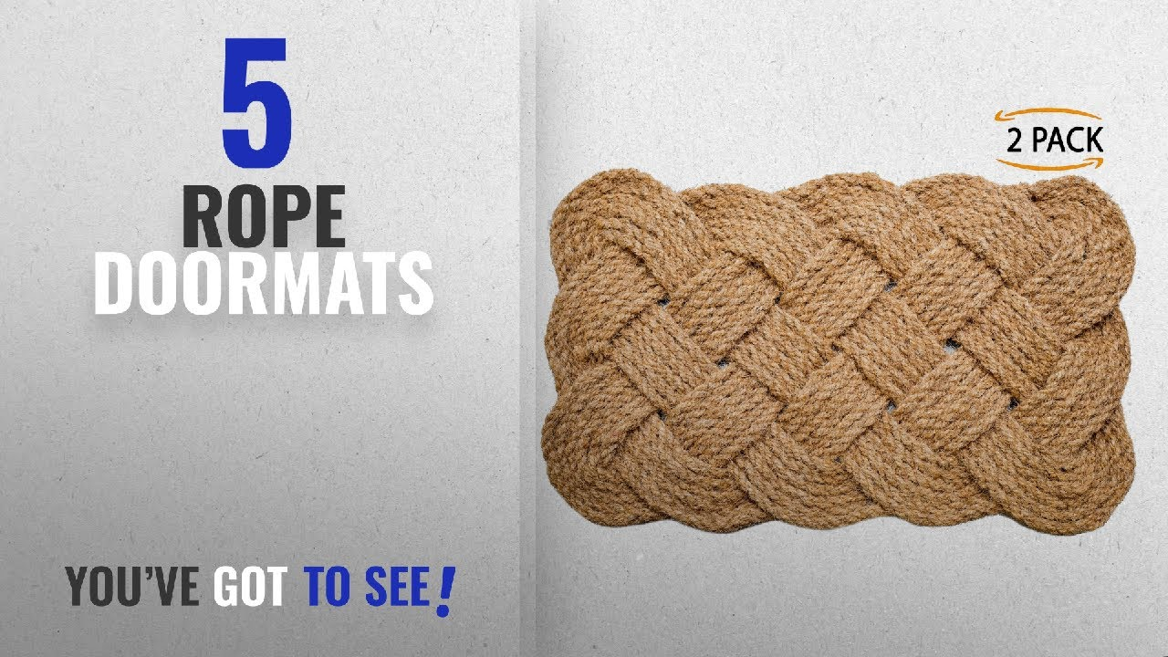 Top 10 Rope Doormats [2018 ]: Iron Gate - Natural Jute Rope Woven ...