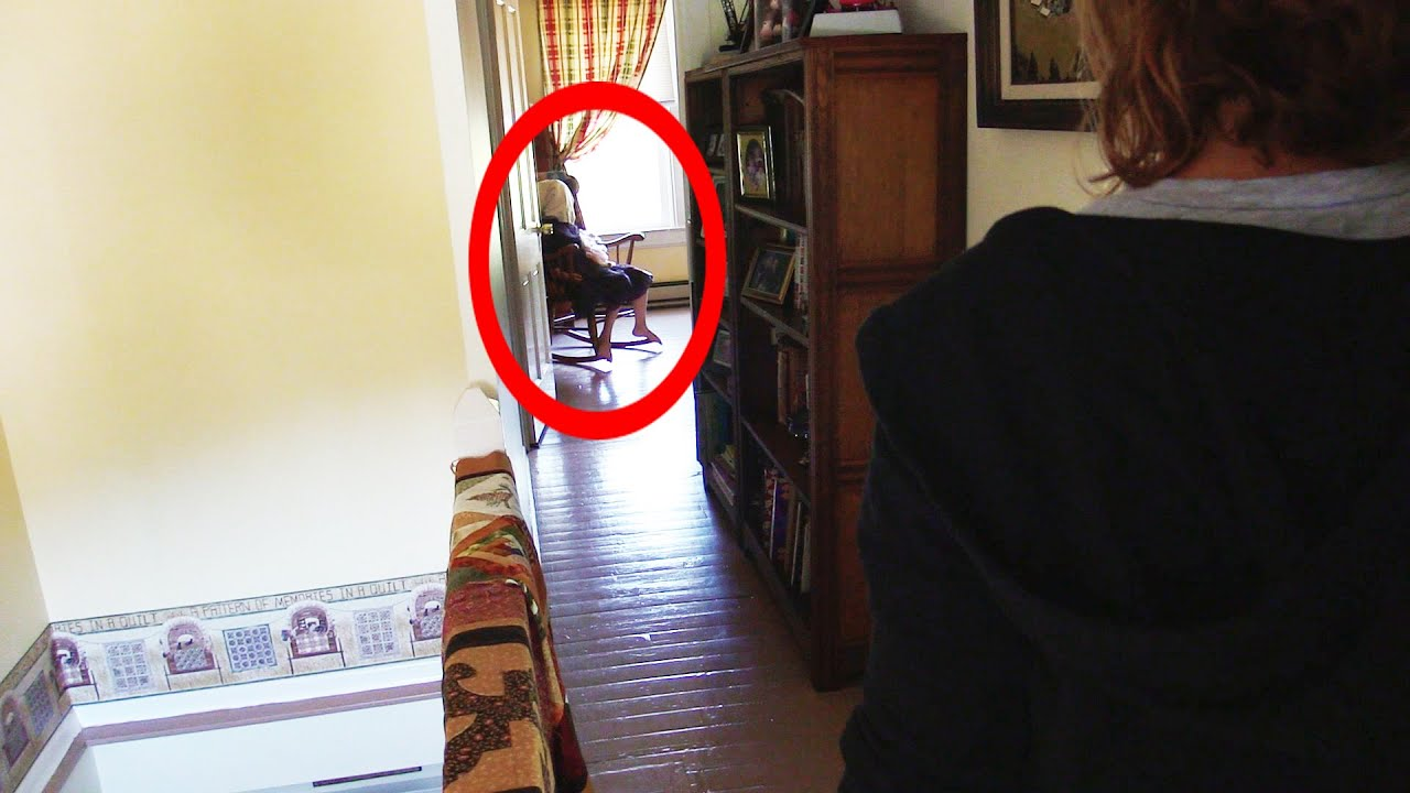 SCARY GHOST ROCKING IN CHAIR